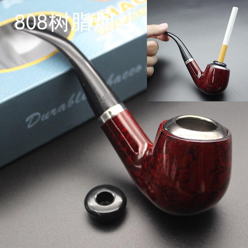 1pcs חדש טבק עישון-עמיד קלאסי סיגר צינור עם גומי טבעת העסקה הטובה ביותר מתנות צינורות סיגריות סיגר צינור עץ צינור