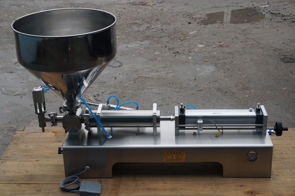 Машина для розлива пищевых продуктов паста с одним соплом большой бункер
