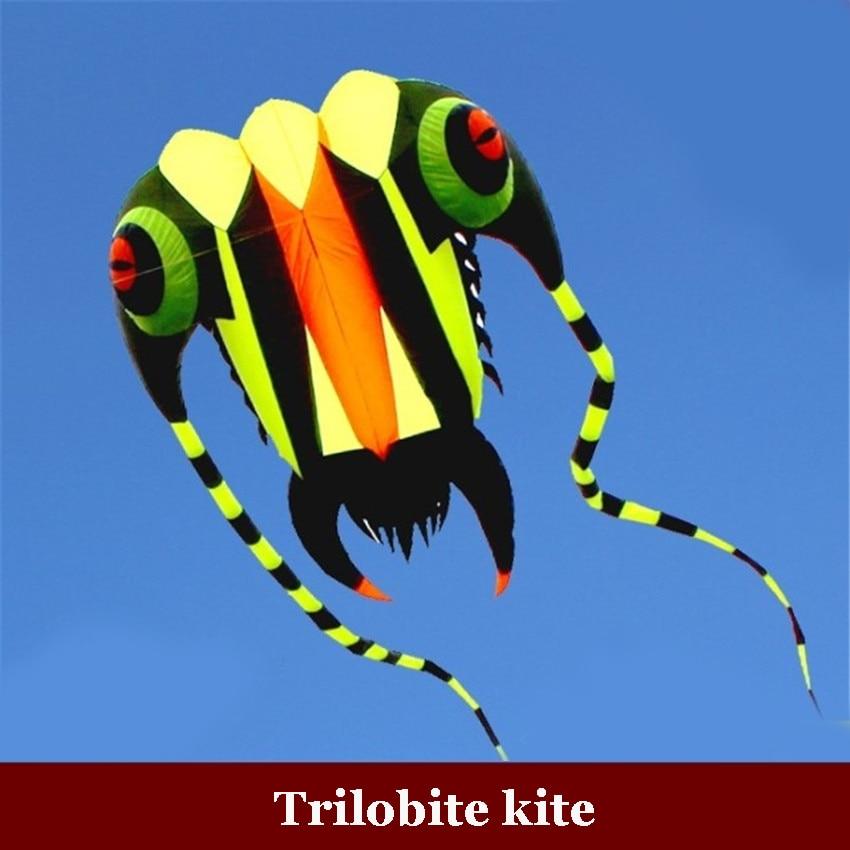1PC 7 sqm Trilobite Kite al aire libre deportes delfines cometas fácil de volar juguetes voladores sin marco, cometa suave, mostrar cometa, levantador