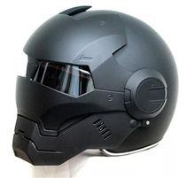 2016 хит продаж, черный шлем MASEI IRONMAN, Железный человек, мотоциклетный шлем, полушлем с открытым лицом, шлем для мотокросса 610, Размер: M, L, XL