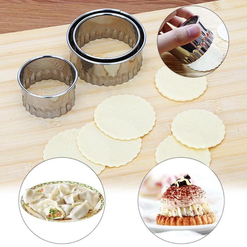 3 unids/set Dumpling cortadora de molde de acero inoxidable Dumpling Maker Weave Dumpling dispositivo para piel masa prensa herramientas de panqueque