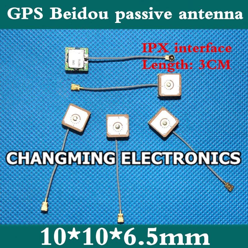 Antena de cerámica integrada de 10x10x6,5mm GPS Beidou antena pasiva relojes inteligentes productos usables (100% de trabajo envío gratis) 2 uds