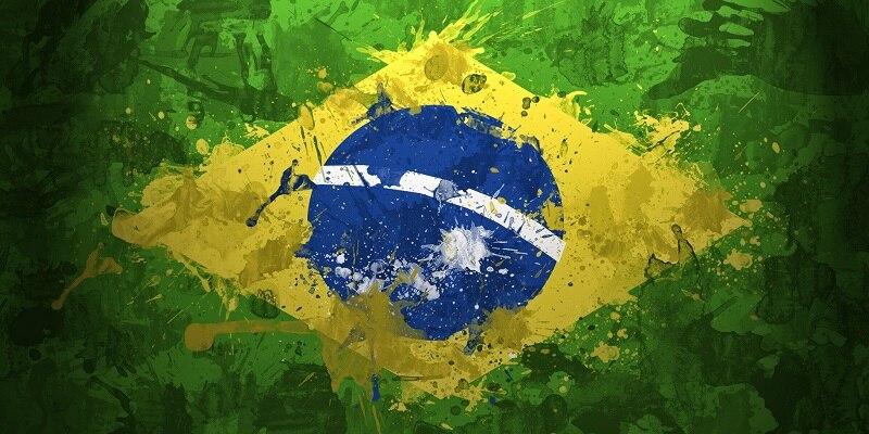 منشفة حمام من الألياف الدقيقة مع طباعة العلم البرازيلي ، منشفة شاطئ ناعمة ، منشفة سفر