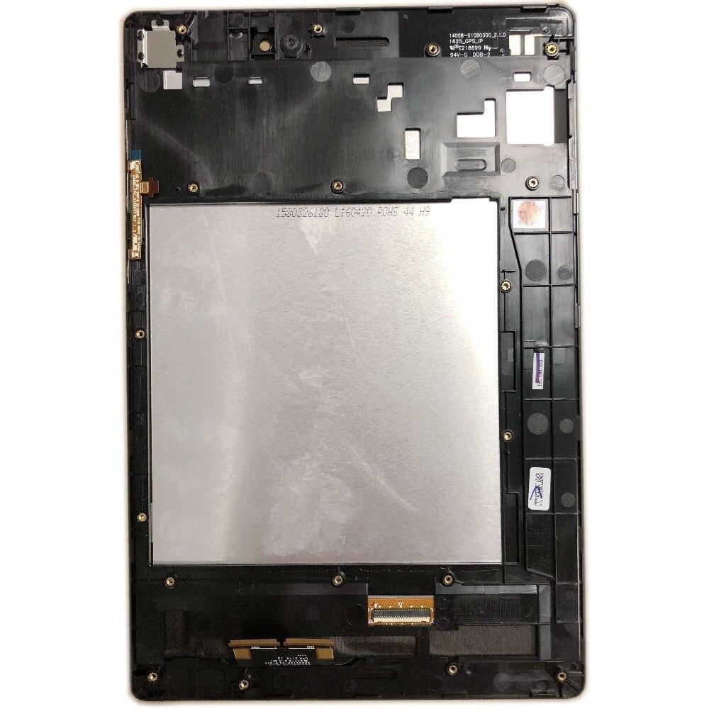 Para ASUS ZenPad S 8.0 Z580CA P01MA TC079GFL05 M1-C TL079QDXP02 LED LCD Touch Screen Glass Digitador Assembléia MOLDURA PRETA