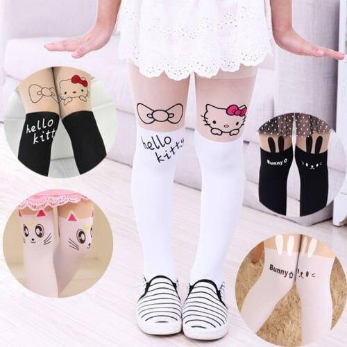 2017 Cute Baby Kids Girls Cotton Warm Tights  Stockings Pants Hosiery Pantyhose Hot