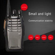 De Baofeng A5 única banda UHF Walkie Talkie 5W 16CH BF-A5 portátil dos Radio VOX Scrambler función Radio Comunicador Woki Toki