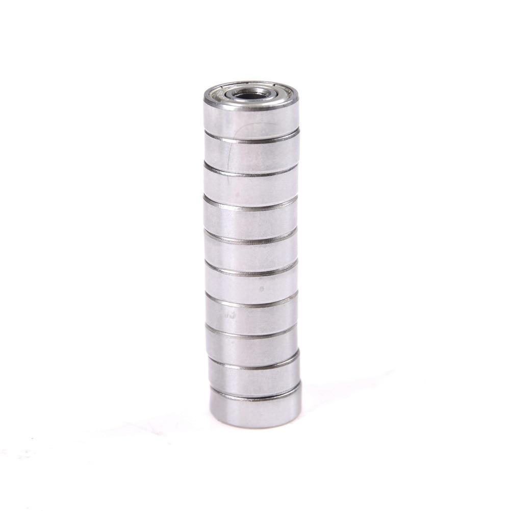 10 Uds 624ZZ 4mm 13mm x 13mm x 5mm 624Z Radial rodamientos de bolas 3D Reprap impresora ID 4mm OD 13mm de ancho 5mm