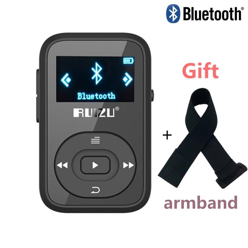 Bluetooth mp3-player mit Clip Original RUIZU X26 8GB mp3 musik-player Unterstützt SD Card FM Radio Voice Recorder + freies armband