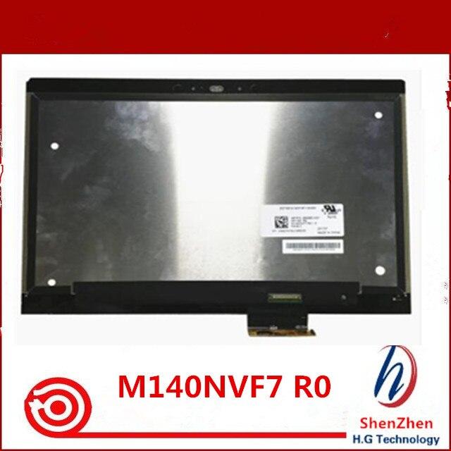 Envío Gratis nueva pantalla Lcd de 14,0 pulgadas M140NVF7 R0 apto para HP EliteBook 1040 G4 montaje de pantalla Lcd de ordenador portátil P/ n 936980-N31