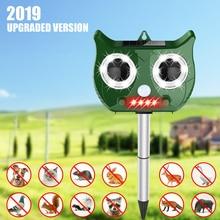Ultrasonic Pest Repeller Solar Powered Animal Repeller Flash Mouse Repeller Garden Bird Cat Dog Fox Repellent Bird Dispeller