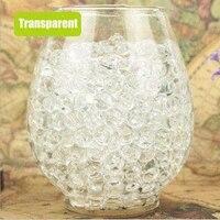 Ensemble de perles deau transparentes en forme de perle  100 pieces lot  cristal  boue de sol  Hydrogel  a paillettes  boules deau  decoration de la maison