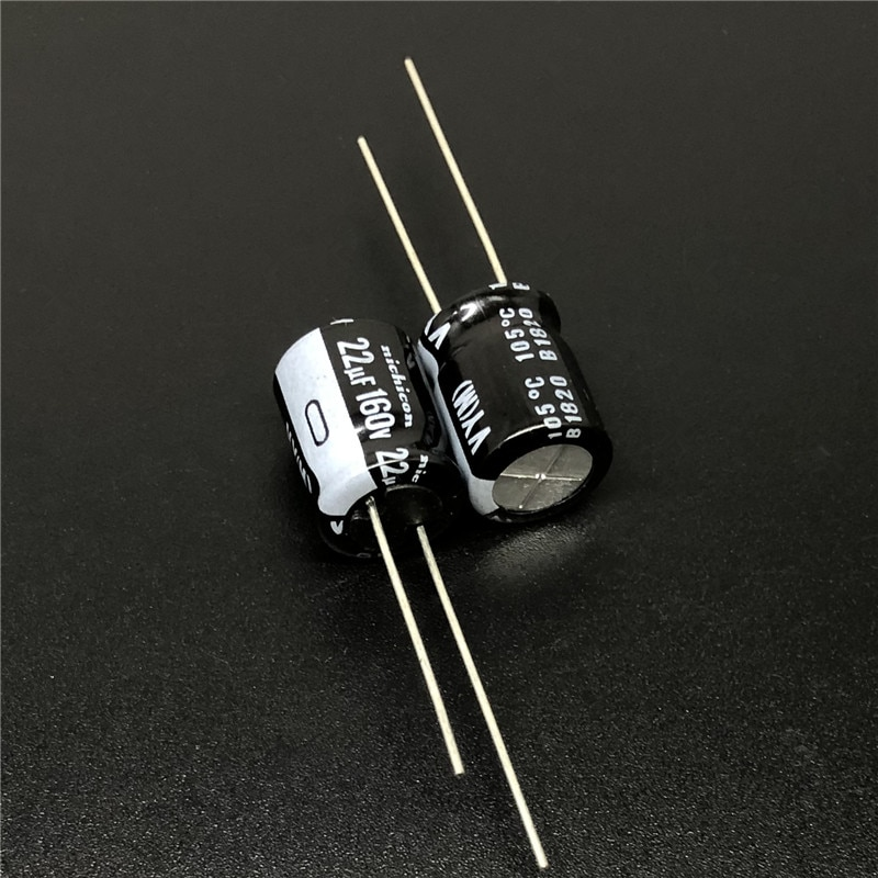 20pcs 22 미크로포맷 160V NICHICON VY 시리즈 10x12.5mm 넓은 온도 범위 160V22uF 알루미늄 전해 콘덴서