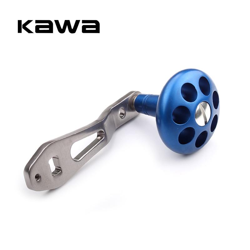 KAWA nuevo mango de carrete de pesca de aleación de aluminio basculante fuerte, duradero solo mango de carrete de pesca para dos secciones carrete accesorio DIY