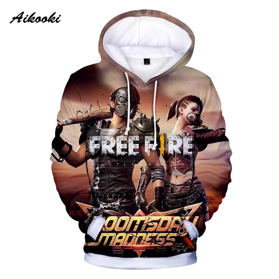 Aikooki caliente libre fuego Hoodies hombres/mujeres sudaderas con capucha hombres Hoody Gun juego libre Fire Polluvers Cap chándal abrigos de invierno