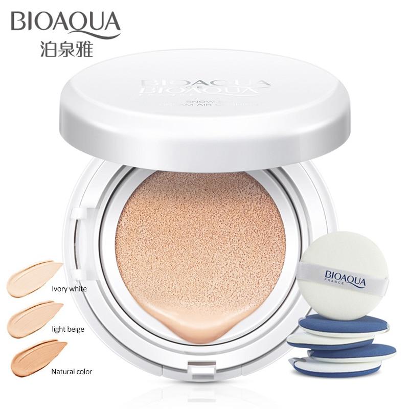 BIOAQUA Sunscreen Air Cushion BB Cream Concealer Moisturizing Foundation Whitening Makeup Bare For Face Beauty недорого