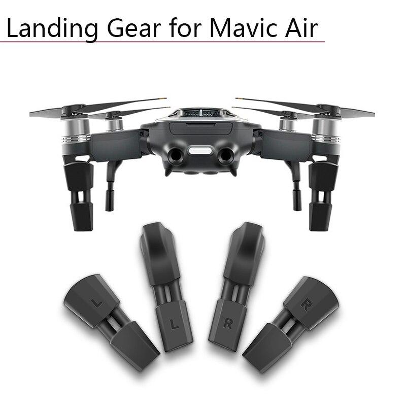 Beschermende Rubberen Landingsgestel Voeten Hoogte Extender Been Schokabsorptie Mat Voor Dji Mavic Air Drone Gimbal Camera Accessoires