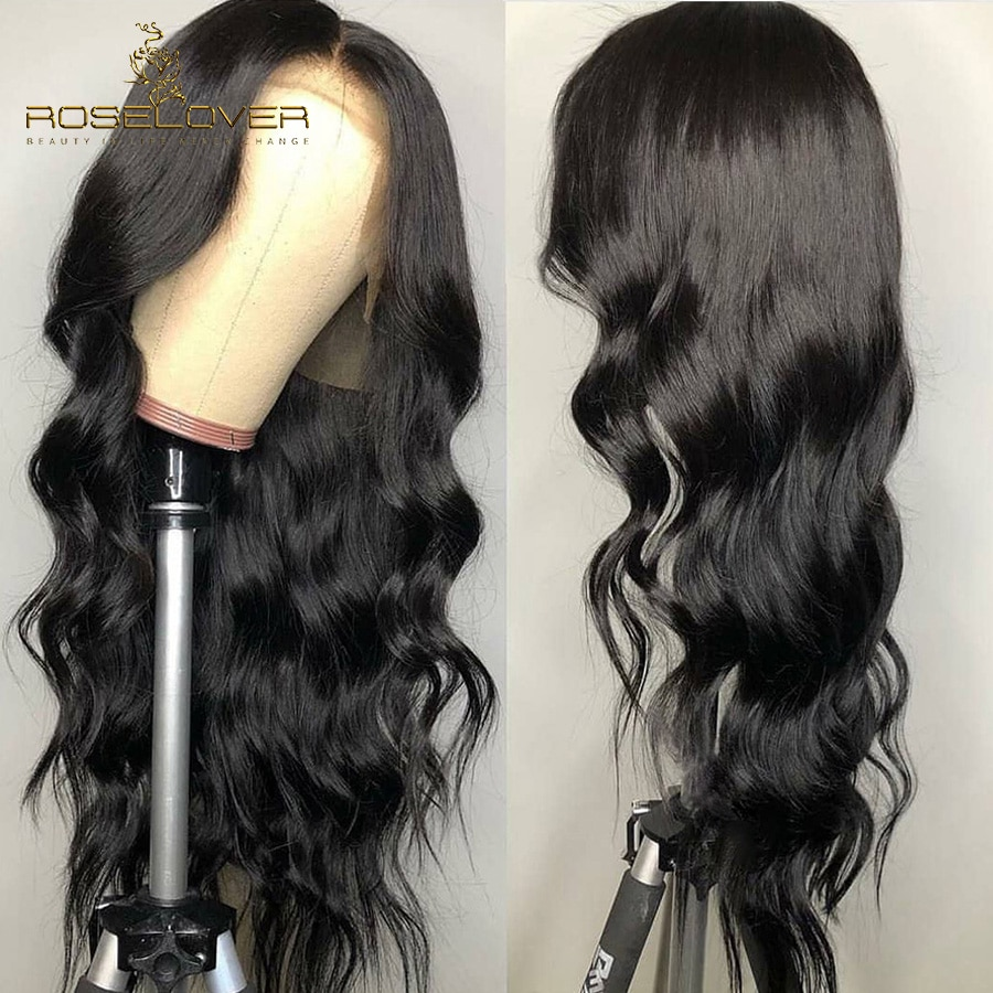 ROSELOVER brésilien corps vague 360 dentelle frontale perruque pré plumé dentelle avant perruques de cheveux humains pour les femmes noires avec des cheveux de bébé