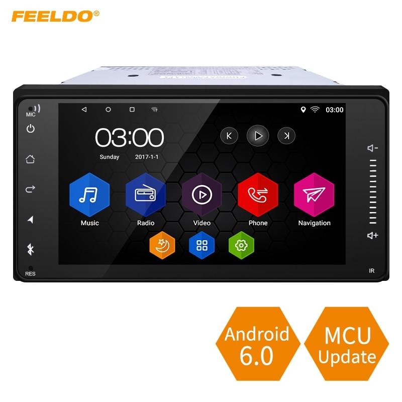 FEELDO 7 pulgada caso Android 6,0 Quad Core reproductor multimedia para coche con GPS Navi Radio para Toyota Universal 2DIN RAV4/corola