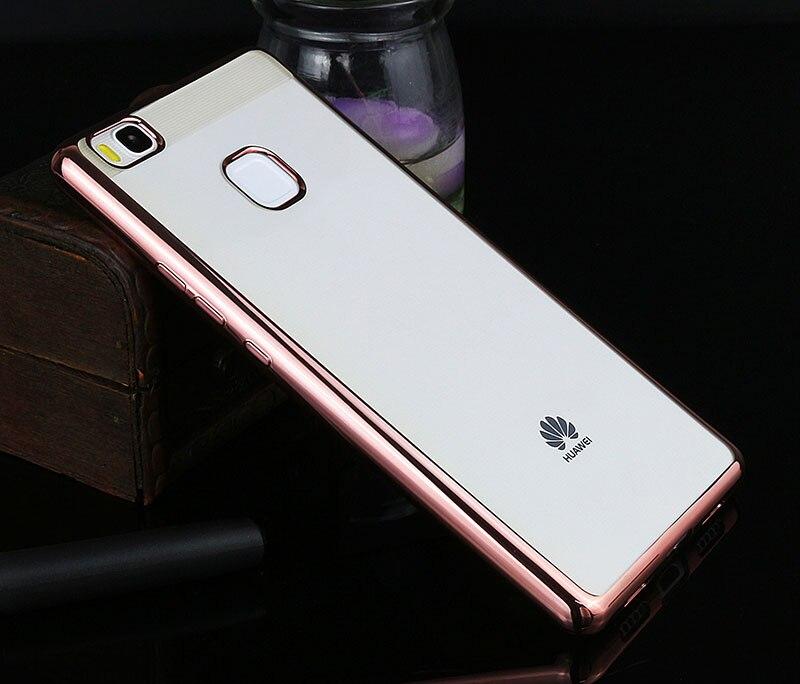 Poszycie telefon skrzynka dla huawei p9 lite pokrywa silikonowa ultra cienkie miękkie przezroczysty tpu tylna pokrywa dla huawei p9 lite luksusowe złota 7