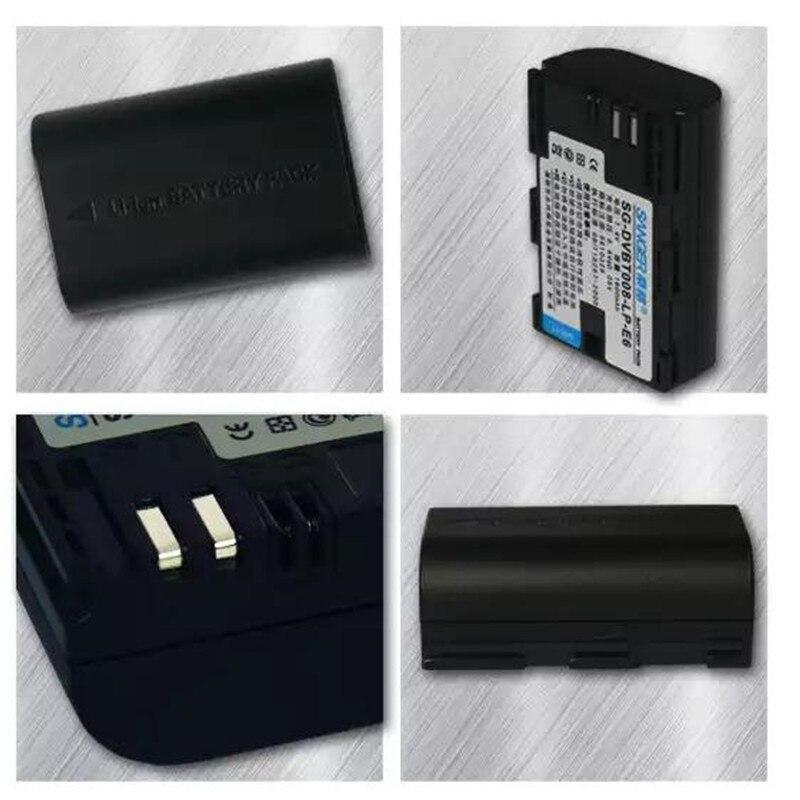 LP-E6 batería LPE6 baterías de litio LP E6 para Canon 5D Mark II III 7D 60D EOS 6D 70D 80D 5D2 7D2 baterías DSLR Digital