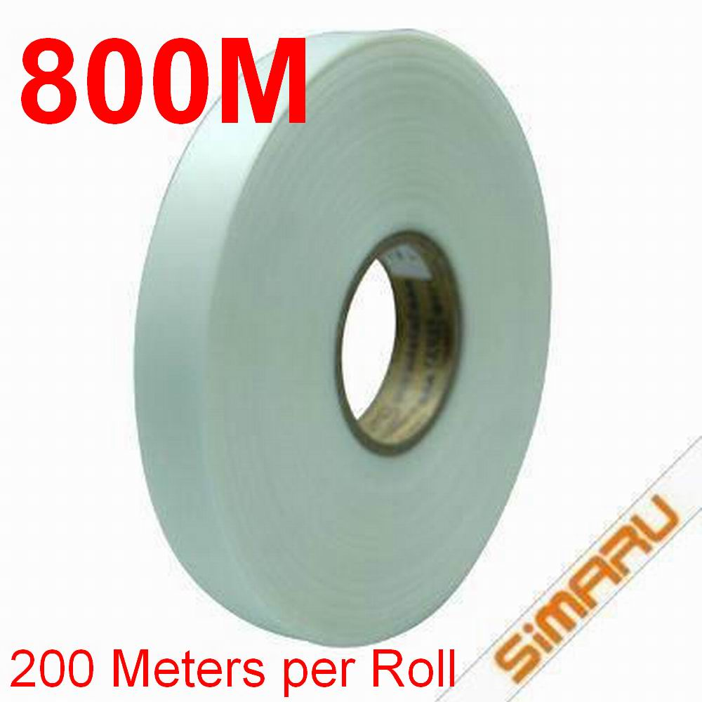 800 Meters 200M 4 Rolls 20mm * 0.08mm PU Heat Seam Sealing Waterproof Tape Hot Melting Thermal Bonding Outdoor Tent or Clothing