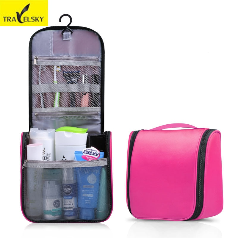 Hot Sale Portable Makeup Bag lady toiletry bags Travel Hanging Wash Bag Waterproof Toilet Bag 1pcs Free shipping 13547