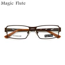 Montures optiques en titane 0907   Lunettes légères, monture complète avec lunettes souples, lunettes de prescription vintage pour hommes ou femmes