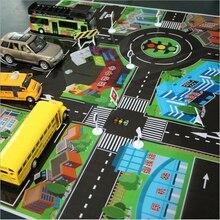 Bébé jouer PVC ville ville vert route trafic tapis enfants escalade ramper tapis 70*70 CM