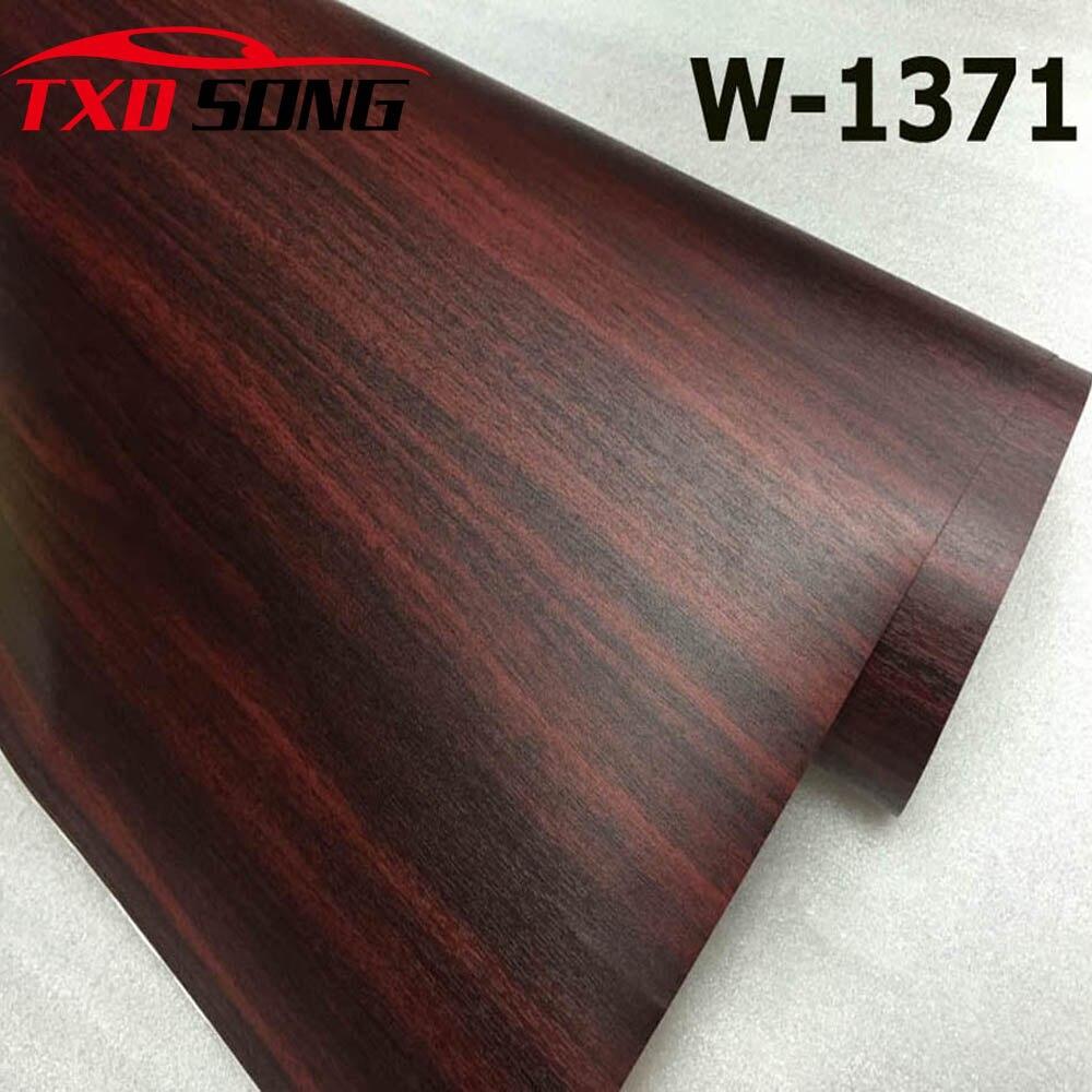 Good quality  W1371 Wood PVC Grain Sticker Wood VINYL Wood PVC film internal decoration wood grain pvc vinyl film Free shipping