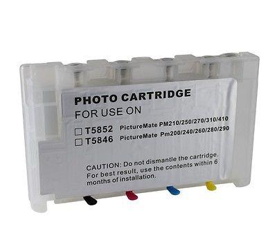 Cartucho de tinta recargable einkshop T5846 para Epson T5846 para impresora Epson PictureMate PM280 PM200 PM240 PM290 PM225