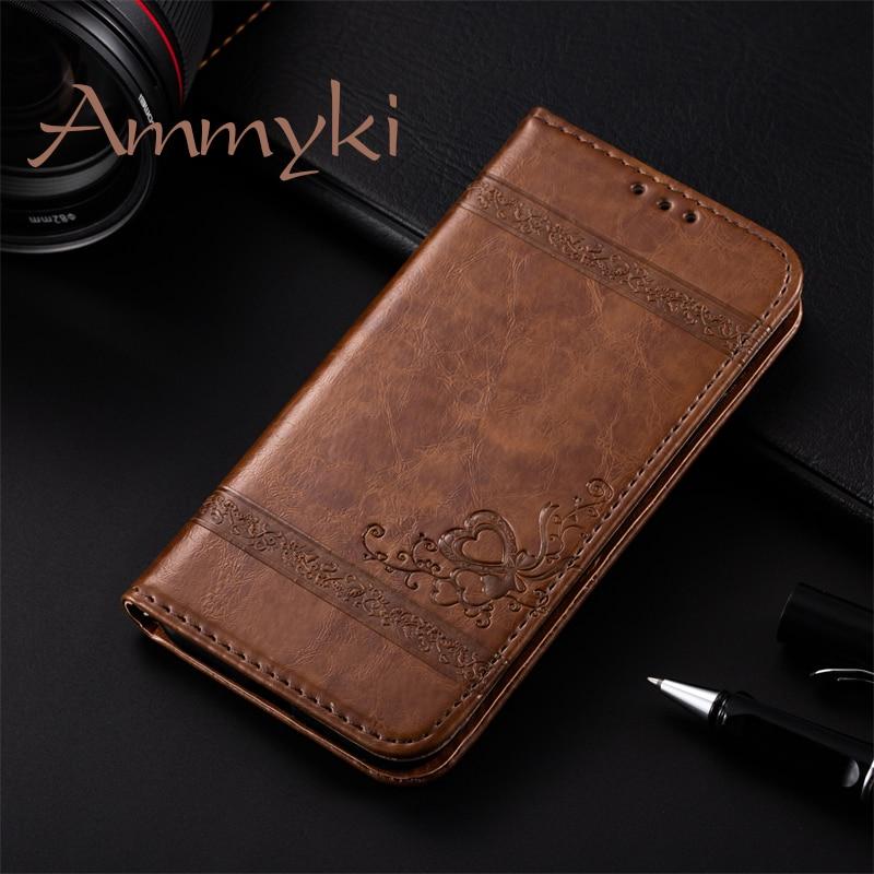 AMMYKI UMI MAX funda diseño exquisito buen diseño pu cuero funda trasera del teléfono 5,5 para umi super funda