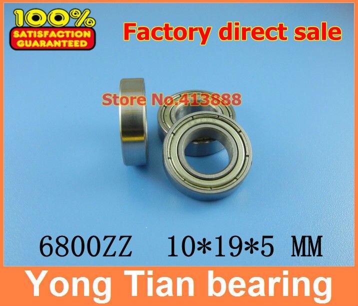500pcs high quality ABEC-5 Z2V1  thin wall deep groove ball bearing 6800ZZ 10*19*5 mm