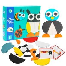 Puzzle 3D en bois jouets pour enfants dessin animé Animal girafe bois Puzzles Intelligence enfants bébé début jouet éducatif