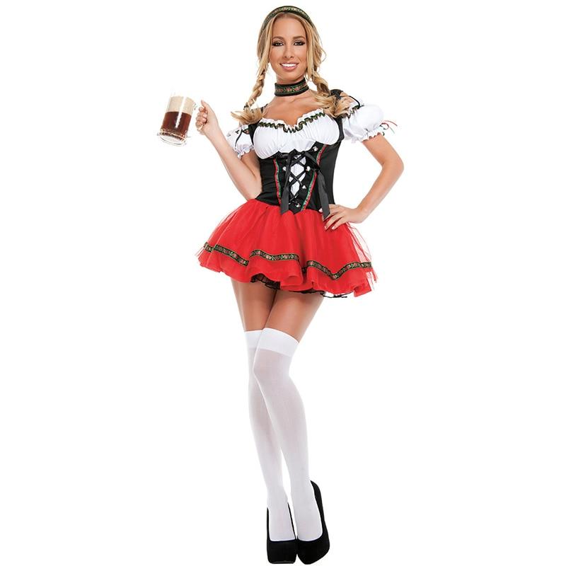 Mulheres sexy alemanha oktoberfest cerveja menina traje adulto senhoras bávaro carnaval maid cerveja cosplay uniforme garçonete vestir-se terno