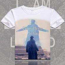 Film Sherlock Holmes t-shirt docteur John H Watson imprimer T-shirts hommes femmes à manches courtes hauts décontracté été Cosplay T-shirts