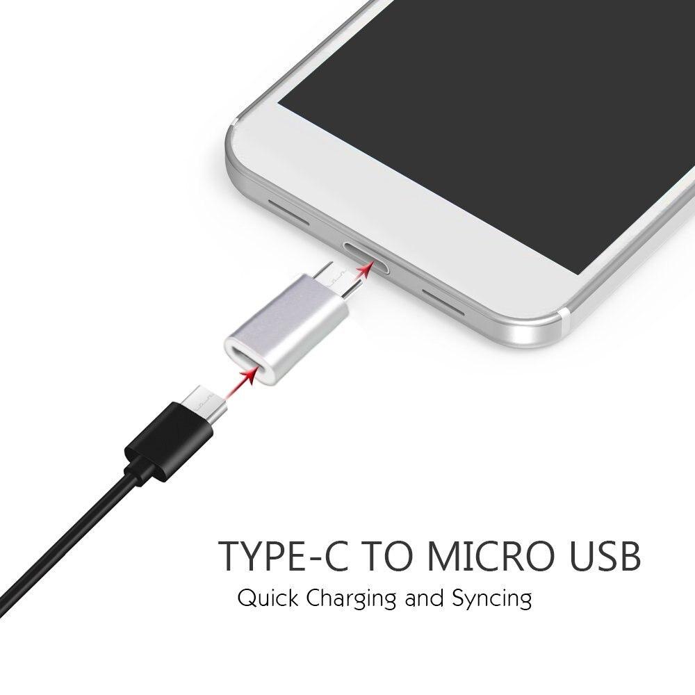 2 упаковки Новый USB Type C разъем для Micro USB Женский конвертер USB-C адаптер для nubia z11 mini, oneplus two, lenovo ZUK Z3