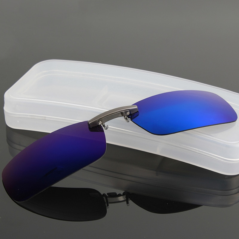 DRESSUUP Polarized Clip On Sunglasses Men Driving Night Vision Lens Sun Glasses Male Anti-UVA UVB For Women & Man Oculos