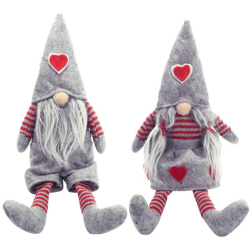 Feliz natal pernas compridas sueco santa gnomo boneca de pelúcia ornamento brinquedos artesanais férias casa festa decoração