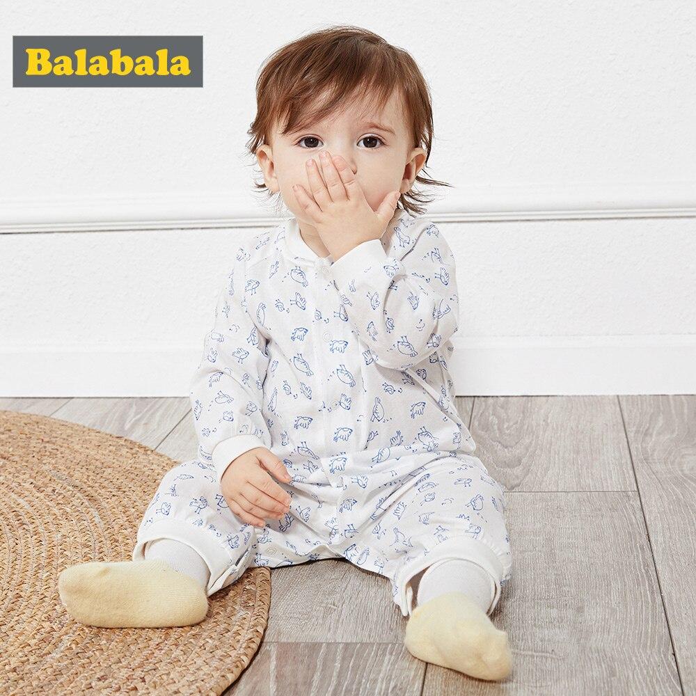 Peleles de bebé BalabalaBaby, lindos pijamas para recién nacidos, ropa de verano de algodón de sección delgada