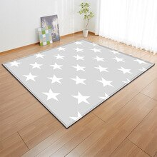 Children Gray Stars carpet  Nordic baby area rug bedroom living room sofa kids carpet soft parlor dining room tapete customized