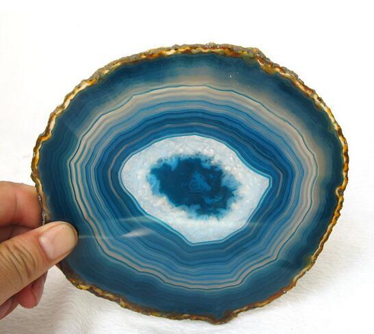 Hermoso azul Agata cristal producto para la venta