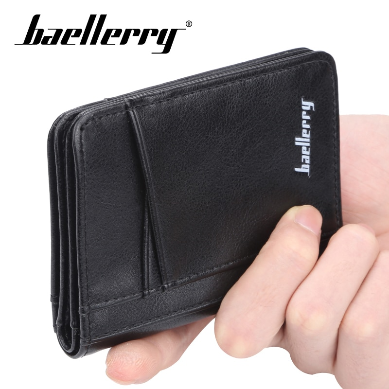 Baellery PU cuero función 11 Bits tarjeta caso negocios tarjeta titular hombres mujeres crédito pasaporte tarjeta Bolsa ID pasaporte cartera