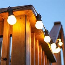 Thrisdar 18M 30 LED Globe noël fée chaîne lumière G50 extérieur Patio arrière-cour Bistro café fête Festoon boule guirlande lumineuse