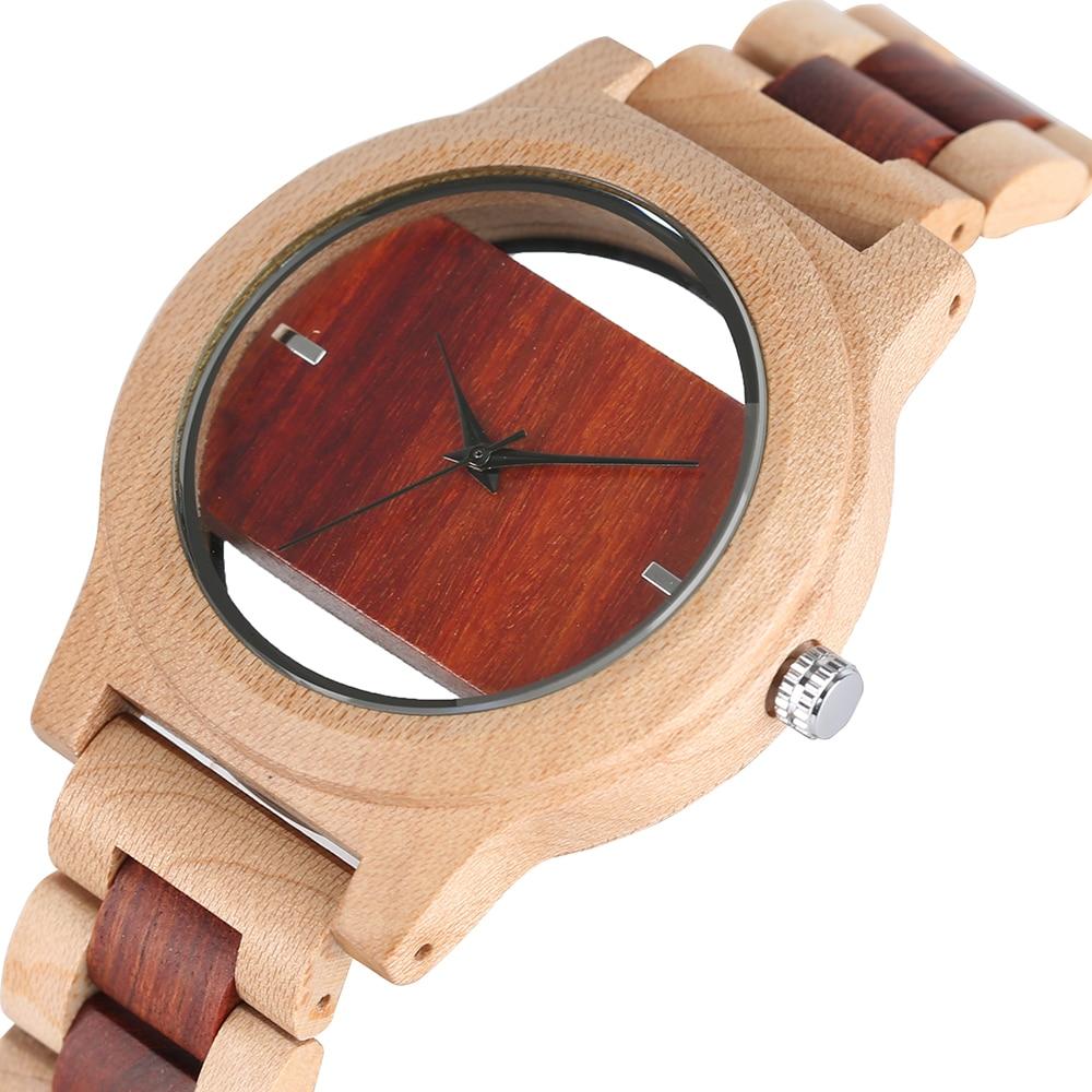 Top Luxury Full Bamboo Wood Quartz Watch Mens Hollow Analog Handmade Bracelet Sports Wristwatch Male Simple reloj de hombre 2020