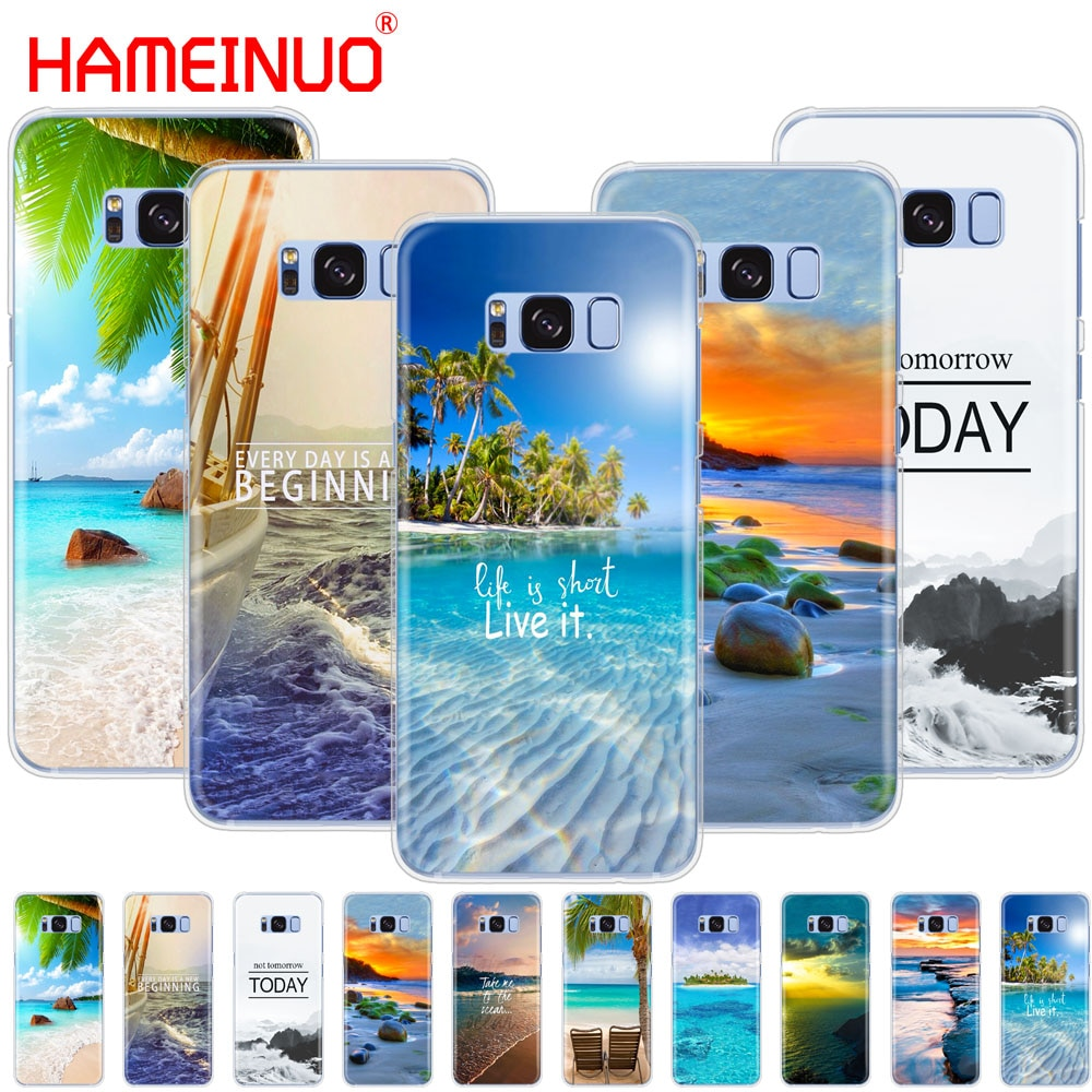 HAMEINUO Neverland Ocean Sea Wave cell phone case cover for Samsung Galaxy S9 S7 edge PLUS S8 S6 S5