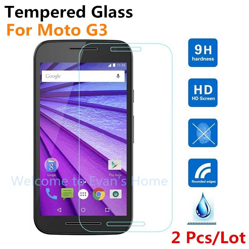 2 шт. Премиум Закаленное стекло протектор экрана для Motorola G3 HD защитная пленка для MOTO G 3rd Gen3 (2015), 5,0 дюймов