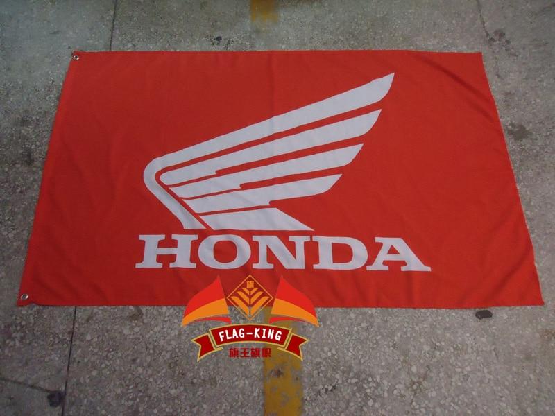 HonDA car Flag ,3x 5ft Polyester,free shipping HonDA banner
