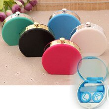 Bouteilles de parfum portables mignons   Mini boîte de lentilles de Contact, conteneur de lunettes, étui de lentilles, Kit de voyage, support, accessoires lunettes