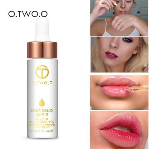 O.TWO.O 24K Rose Gold Foil Face Moisturizing Oil Essence Anti-wrinkle Anti-aging Emollient Face Oil Makeup Primer Foundation
