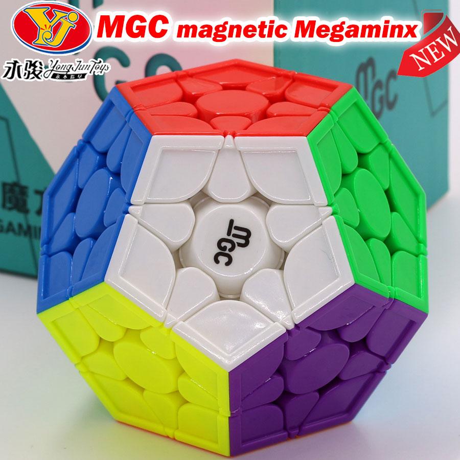 لغز المكعب السحري MGC لغز مغناطيسي سرعة megaminxads احترافي 12 محاور Dodecahedron سرعة احترافية Megamin 3x3 Cubo